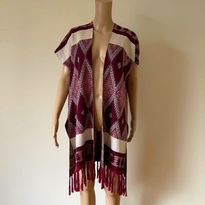 ATMOSPHERE | Tribal poncho blanket cardigan